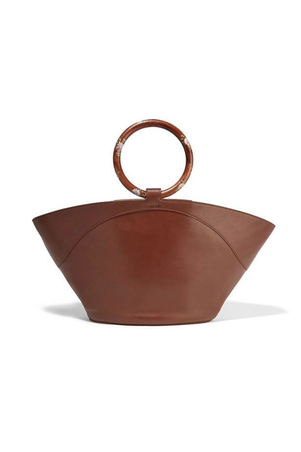 """Bag, $6,499, The Row at <a href=""""https://www.net-a-porter.com/au/en/product/799857/the_row/market-leather-tote"""">Net-A-Porter</a>"""