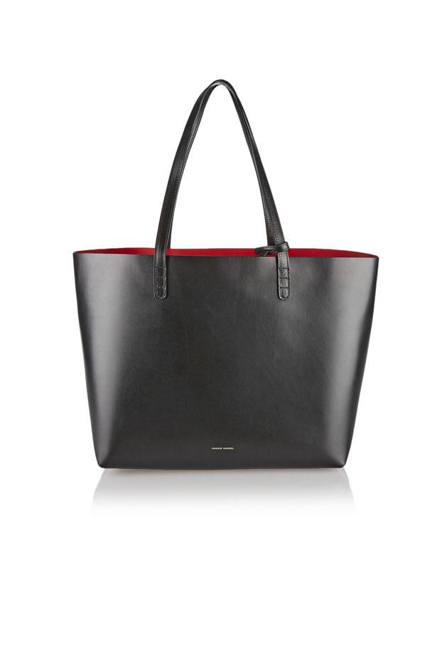 "Bag, $702, Mansur Gavriel at <a href=""https://www.net-a-porter.com/au/en/product/471193/mansur_gavriel/large-leather-tote"">Net-A-Porter</a>"