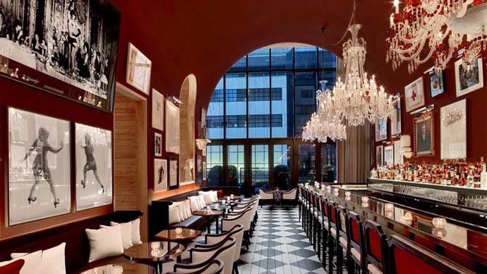 """<strong>U.S.A:</strong> <a href=""""http://www.booking.com/hotel/us/baccarat-and-residences-new-york.en-gb.html""""><strong>Baccarat Hotel and Residences New York</strong> </a> A super luxe La Mer spa, Baccarat Crystal finishings plus a vintage luxury car service at your beck and call. Shut up and take our money."""
