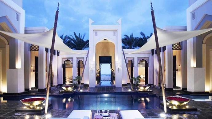 """<a href=""""http://www.booking.com/hotel/bh/al-areen-palace-amp-spa.en-gb.html?label=gen173nr-1BCAsoGEIXYWwtYXJlZW4tcGFsYWNlLWFtcC1zcGFIM2IFbm9yZWZoD4gBAZgBLrgBB8gBDNgBAegBAagCAw;sid=fcb6a8f9d6e474b18df809032f7d34a8;dist=0&sb_price_type=total&type=total&""""><strong>Al Areen Palace & Spa Bahrain</strong></a> Although this hotel isn't quite in the middle of the desert, it sure does feel like an oasis. Book your own private villa, which comes complete with traditional Arab furnishings and a private pool for you, and only you, to enjoy in tranquillity. The hammam (steam bath) is a must, and make it your mission to experience the multitude of spa treatments on offer."""