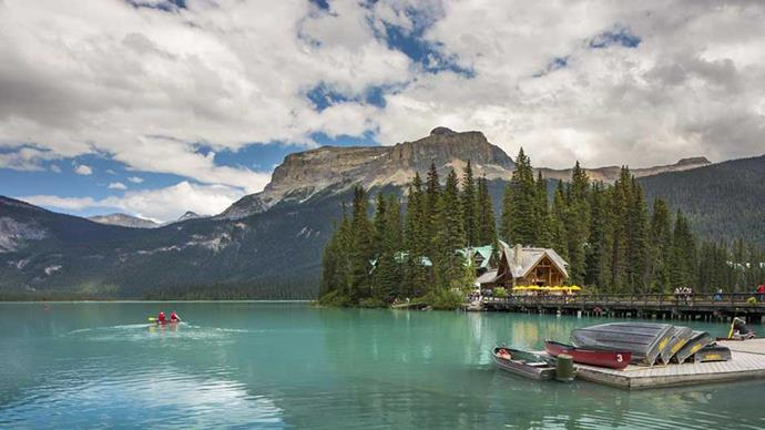 "<strong>CANADA:</strong> <a href=""http://www.booking.com/hotel/ca/emerald-lake-lodge.en-gb.html?aid=304142;label=gen173nr-1DCAEoggJCAlhYSDNiBW5vcmVmaA-IAQGYAS64AQbIAQzYAQPoAQGoAgM;sid=a11fb96268ed44e73076014e268ecb6c;aer=1;all_sr_blocks=25666902_93825769_0_2_0;checkin=2017-03-23;checkout=2017-03-24;dest_id=-567629;dest_type=city;dist=0;group_adults=2;highlighted_blocks=25666902_93825769_0_2_0;hpos=7;room1=A%2CA;sb_price_type=total;spdist=25.1;srfid=63d516e892842cecd054757787e45b98c46ea12eX7;type=total;ucfs=1&#hotelTmpl""><strong>Emerald Lake Lodge</strong></a> Escape into the Canadian wilderness to a lodge hidden away in the Rockies. Make the most of your seclusion by soaking in the hot tub or strolling around the glistening Emerald Lake, the colour of which is more than worthy of an Insta post or two."