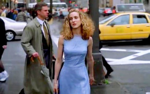 Sex and the City alternate opening credits blue dress
