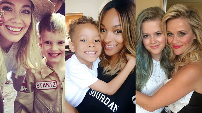 young celebrity mums