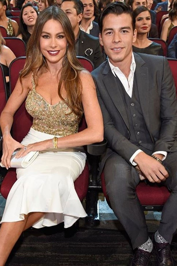 <strong>Sofia Vergara</strong> <br></br> Gave birth to: Manolo <br></br> Age: 19