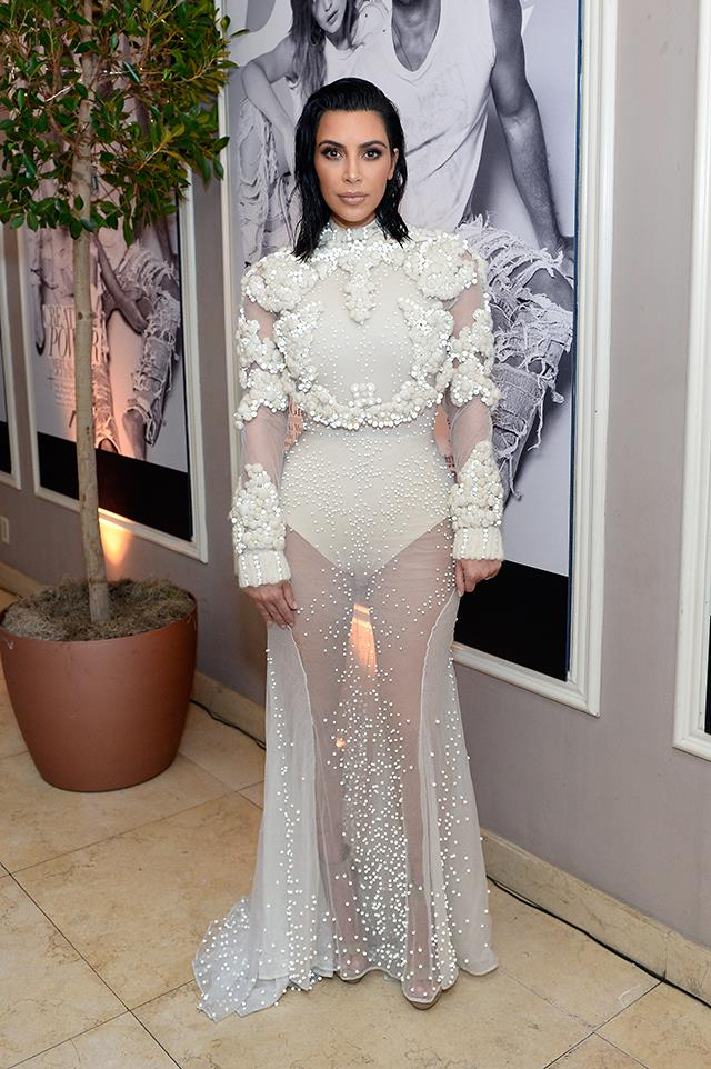 For her first red carpet appearance since her Paris attack, Kim dug deep into the archives and chose this semi-naked Givenchy dress from 2011.
