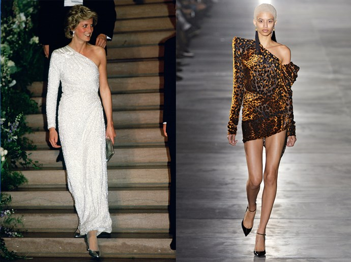 <p>Here are seven '80s trends that might be A Kind Of Magic. (Sorry!)<p> <strong>Cold Shouldered</strong><p> If both Princess Di and Saint Laurent say it's in (albeit 30-something years apart), then it's in.