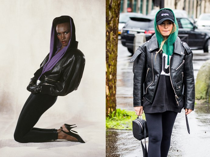 <p><strong>Leather Lover</strong><p> Let's face it: a good leather jacket has never (and probably will never) gone out of style. But this particular brand of leather—boxy, oversized and worn loose—is stepping back onto the scene.