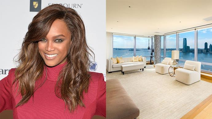 """<p>Take a look inside Tyra Bank's New York City apartment, which is set to sell for over $23 million. <p><em>Image via <a href=""""http://www.modlingroup.com/"""" target=""""_blank"""">Modlin Group</a>.</em></p>"""