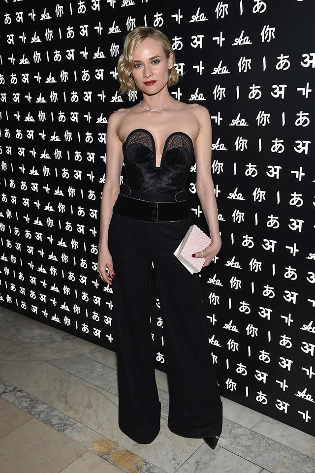 In Roberto Cavalli at the Montblanc & UNICEF gala dinner.