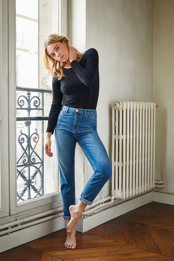 """<p><strong>Sézane</strong> <p>Recently launched French-based Sézane is about as cool-girl Parisian as you can get. Their line is modelled by Camille Rowe, advertises exclusively via its <a href=""""https://www.instagram.com/sezane/?hl=en"""">curated Instagram grid</a>, and finds its offering constantly sold out. Get in quick. <p><strong>Buy:</strong> Mom jeans by Sézane, approx. $130 AUD at <a href=""""http://www.sezane.com/en/product/spring-collection/1958-jeans?cou_Id=1304"""">Sezane.com</a>"""