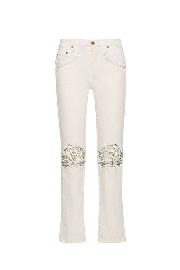 "<p><strong>Bliss and Mischief</strong> <p>Gucci are leading the pack in embellished denim, but if you don't have $2,000-odd to splurge on a skirt, Bliss and Mischief is your new best friend. <p><strong>Buy:</strong> Straight leg jeans by Bliss and Mischief, $636 at <a href=""https://www.net-a-porter.com/au/en/product/818724/Bliss_and_Mischief/song-of-the-west-embroidered-straight-leg-jeans"">Net-a-porter.com</a>"