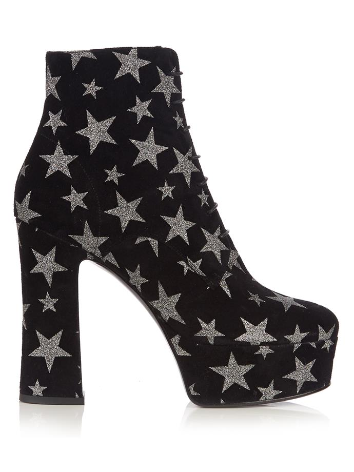 "Boots, $1,225, Saint Laurent at <a href=""http://www.matchesfashion.com/au/products/1073295"">Matches Fashion</a>"