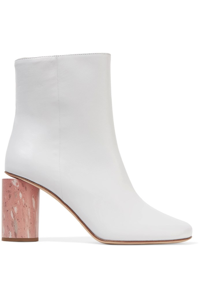 "Boots, $1,100, Acne Studios at <a href=""https://www.net-a-porter.com/au/en/product/814842/acne_studios/althea-leather-ankle-boots"">Net-A-Porter</a>"
