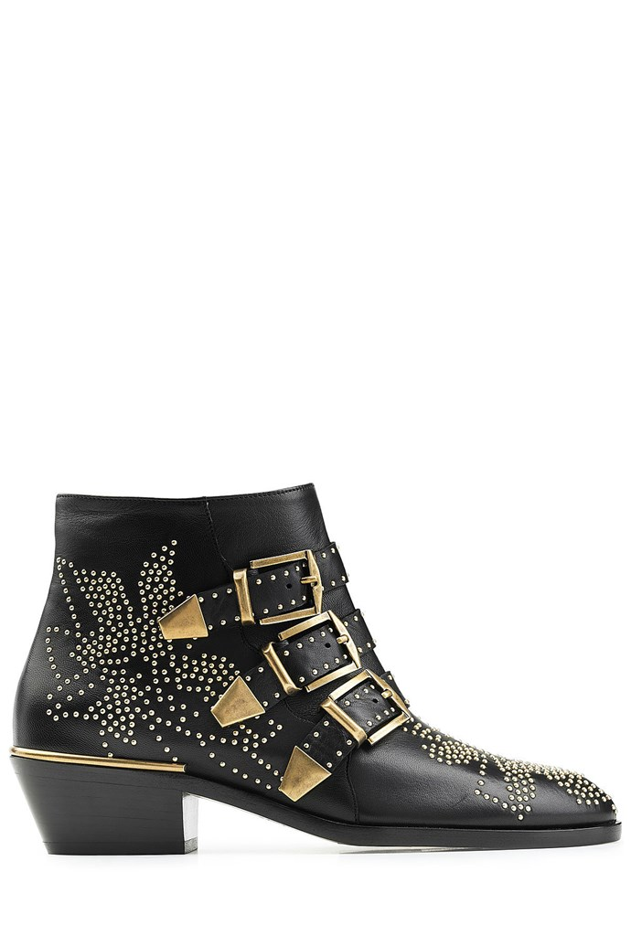 """Boots, $1,396 (approx.), Chloé at <a href=""""http://www.matchesfashion.com/au/products/Chlo%C3%A9-Susanna-leather-ankle-boots-1073513"""">Stylebop</a>"""
