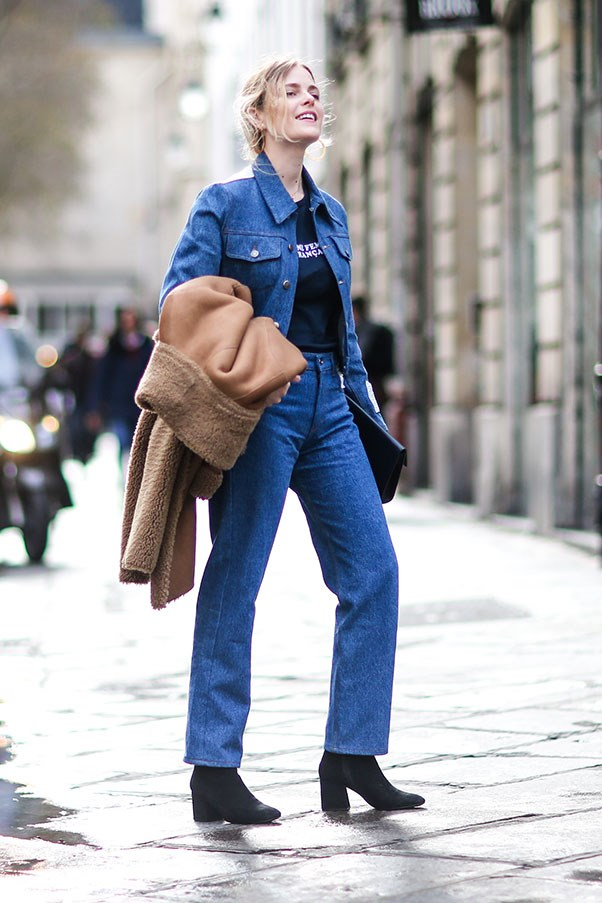 <p><strong>2. Experiment with double denim</strong>