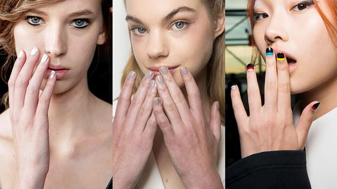 <p>Update your nail game this season with these new standout nail trends fresh off the runway.