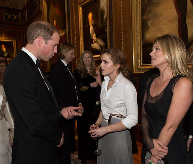 <p>Emma Watson meeting Prince William in 2014.