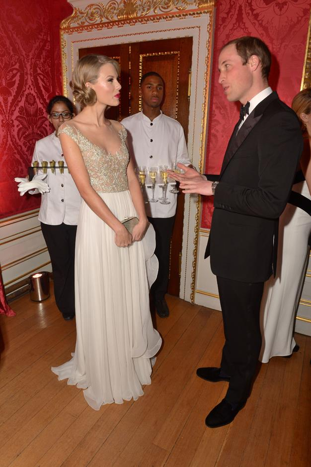 <p>Taylor Swift meeting Prince William in 2013.