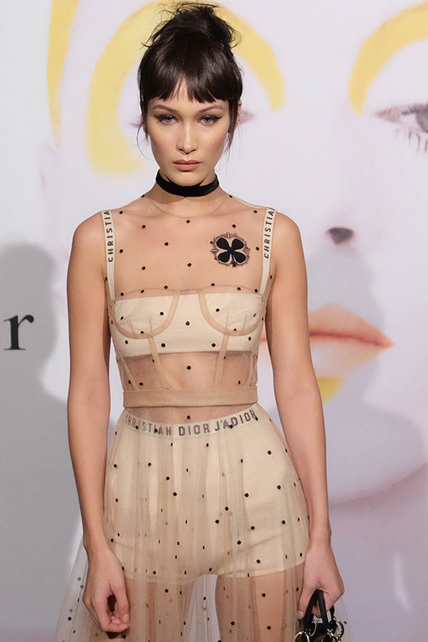 """<p><strong>Bella Hadid</strong> <p>Posted to <a href=""""https://www.instagram.com/p/BSuJf6ph-57/?taken-by=bellahadid"""">Instagram</a> overnight with a snap of her favourite crystals, which she says she'll be """"Charging with the bright and full pink moon"""" before a trip to Dubai."""