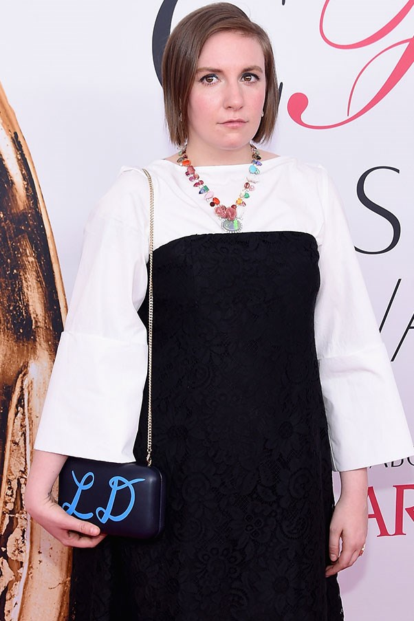 <p><strong>Lena Dunham</strong> <p>Is a regular customer of Adina Mills, a jewellery designer who crafts crystal jewellery pieces from a studio in the Mojave Desert.