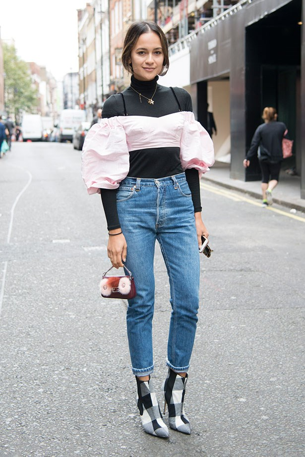 9. Wear Off-The-Shoulder Styles All Year Round By Partnering With A Long-Sleeve Top