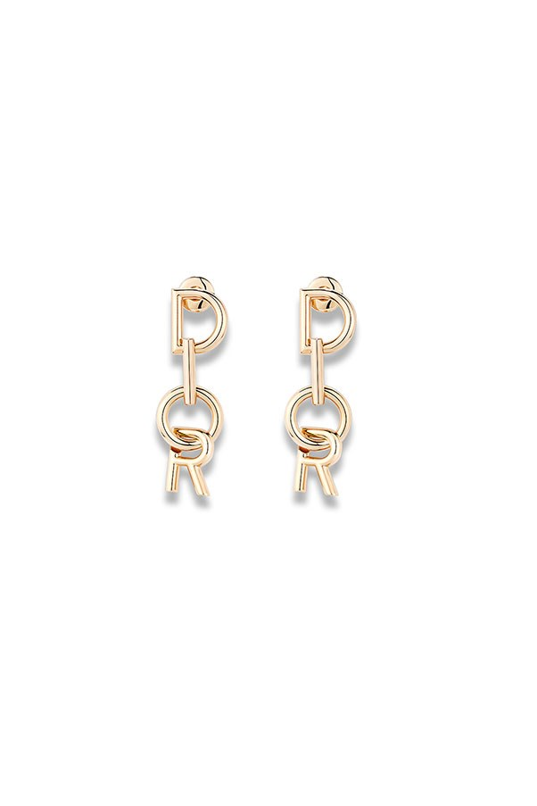 "Earrings by Dior, price on application, <a href=""http://www.dior.com/couture/en_int/womens-fashion/accessories/earrings/lettre-a-dior-earrings-in-gold-tone-finish-metal-17-40122#"">Dior.com</a>"