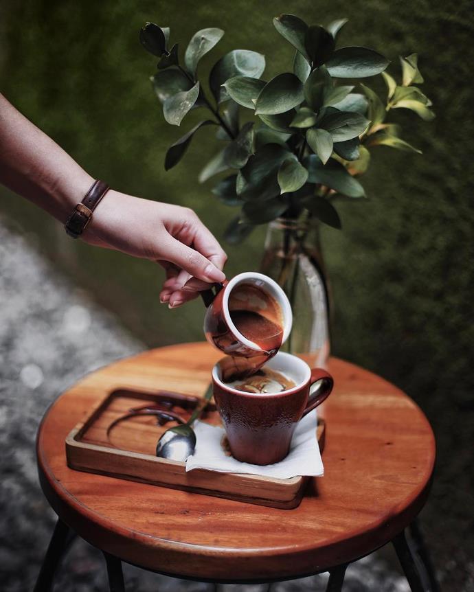 "<p><strong>Cortado</strong> <p>A posh take on the long mac, a cortado is espresso coffee and warm milk. <p> <em>Image: <a href=""null""><a href=""https://www.instagram.com/p/BSyf9d6jlDA/"">aldodoaldo</a></a></em>"