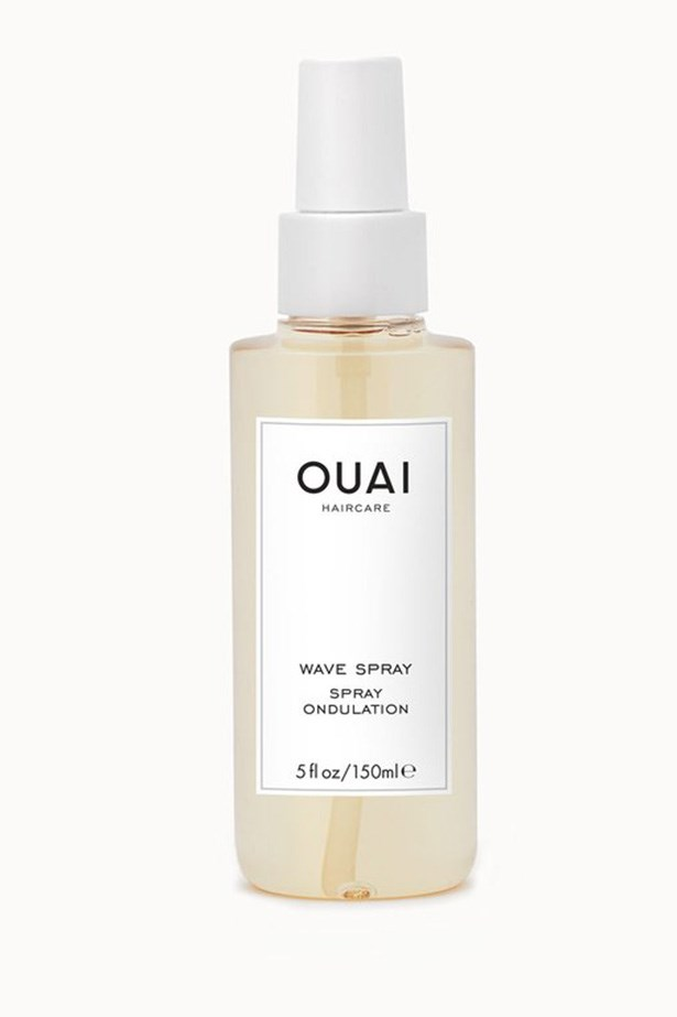 """""""This is the perfect formula to give fine or fluffy hair a little extra guts. It's such an <em>ELLE</em> office fave, that I don't even bother putting it away - it lives on my desk for regular reapplication.""""  — <em>Amy Starr, beauty & lifestyle director</em> <br> <br> Ouai Wave Spray, $26, at <a href=""""https://theouai.com/products/wave-spray"""">The Ouai</a>"""