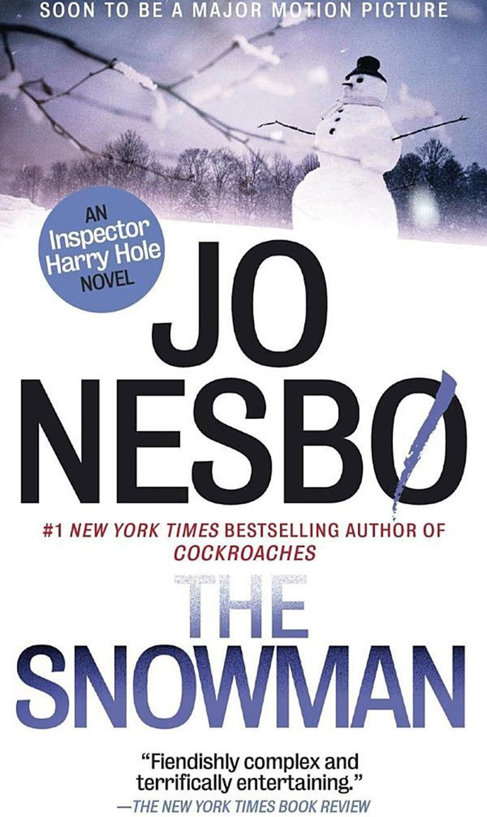 <p><strong><em>The Snowman</em> by Jo Nesbo</strong> <p> <strong>Release date:</strong> October 12, 2017 <p> <strong>What it's about: </strong>A thriller about Detective Harry Hole, who investigates a woman's disappearance. The only clue as to what happened to her is a pink scarf wrapped around an ominous snowman, which seems to confirm a serial killer. It's one of several Harry Hole novels Nesbo has penned, so you can swing through the whole series if you like it. <p><strong> Who'll be in the film: </strong>Michael Fassbender, Val Kilmer, Rebecca Ferguson <p> <strong>If you liked this, try:</strong> <em>The Leopard</em> by Jo Nesbo, <em>Phantom</em> by Jo Nesbo