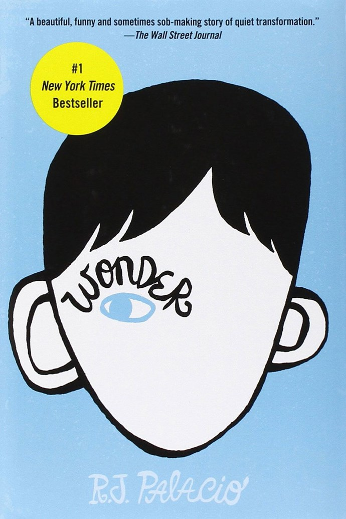 <p> <strong><em>Wonder</em> by R.J. Palacio</strong> <p> <strong>Release date: </strong>April 7, 2017 <p><strong>What it's about:</strong> Auggie has a facial deformity that cause his schoolmates to shun him. In <em>Wonder</em>, which is told from several different viewpoints, we learn how Auggie sees himself and how others see him. Heartbreaking yet inspiring, this is one for both kids and adults. <p> <strong>Who'll be in the film:</strong> Julia Roberts, Owen Wilson, Jacob Tremblay <p> <strong>If you liked this, try:</strong> <em>The One and Only Ivan</em> by Katherine Applegate, <em>Out of My Mind</em> by Sharon M. Draper