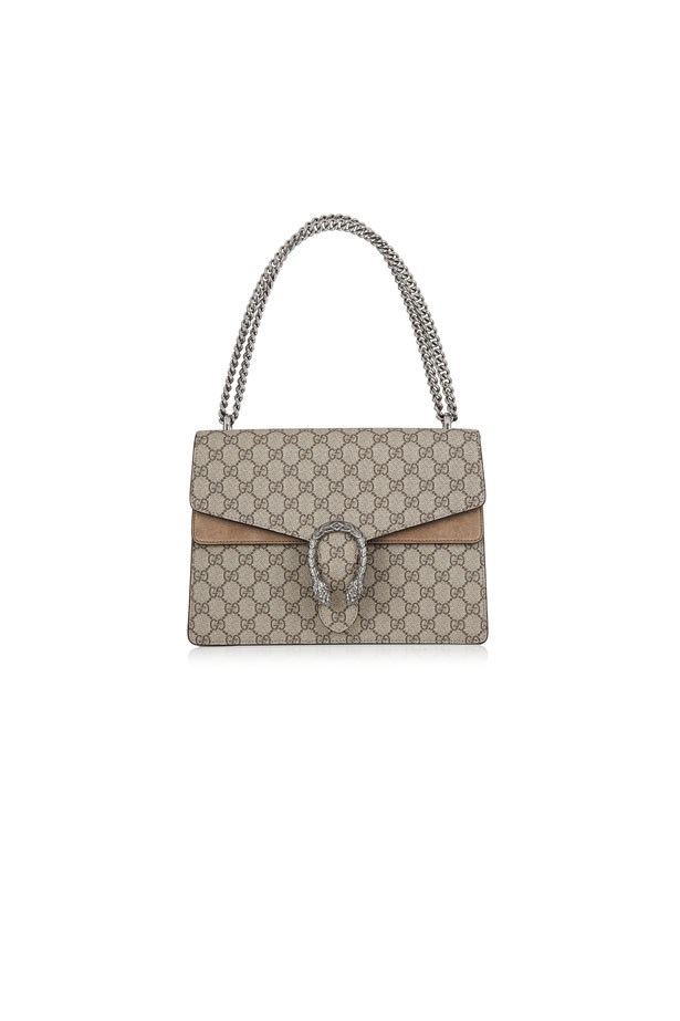 "<strong>Beach Formal</strong> <br><br> Bag, $2,600, Gucci at <a href=""https://www.net-a-porter.com/au/en/product/608207/gucci/dionysus-coated-canvas-and-suede-shoulder-bag"">Net-A-Porter</a>"