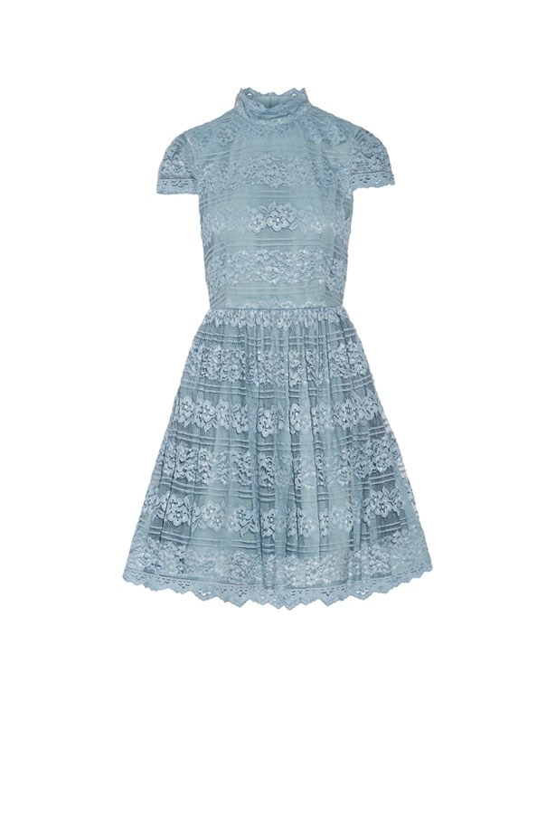 "<strong>Cocktail Attire: Time to pull out your fun and flirty cocktail dress, with glittery shoes and a statement mini bag.</strong> <br><br> Dress, $640, Alice + Olivia at <a href=""https://www.net-a-porter.com/au/en/product/771052/alice___olivia/maureen-lace-mini-dress"">Net-A-Porter</a>"