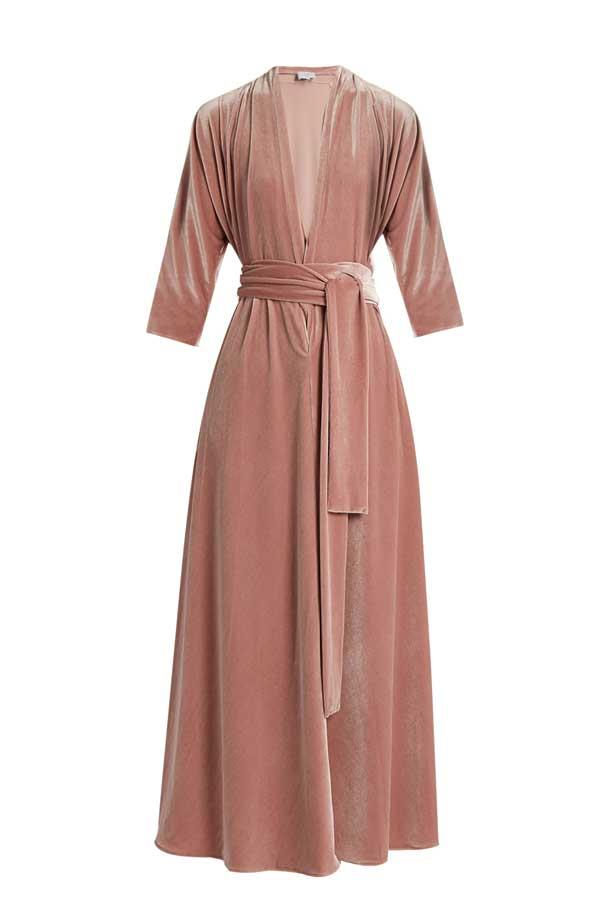 "<strong>Winter Wedding: The trick to being the best dressed winter wedding guest? Long sleeves and thick, rich fabrics such as velvet.</strong> <br><br> Dress, $2,061, Luisa Beccaria at <a href=""http://www.matchesfashion.com/au/products/luisa-beccaria-V-neck-tie-front-velvet-dress-1069402"">Matches Fashion</a>"