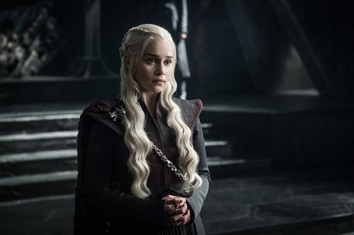 "<p>Queen Daenerys Targaryen.<p> <em>Image via <a href=""http://www.makinggameofthrones.com/production-diary/get-look-exclusive-photos-game-of-thrones-season-7"">HBO</a></em>."