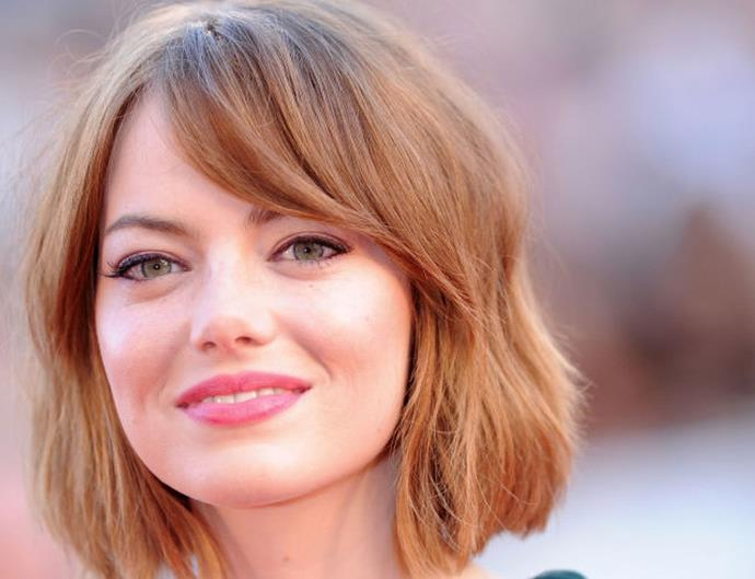 emma stone short hair