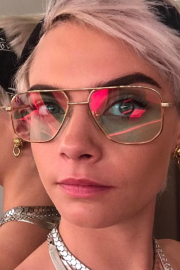 <strong>Cara Delevingne</strong> <br><br> Pastel pink and pixie cropped, Cara Delevingne lopped off her bob for her upcoming role in <em>Life In A Year</em>.