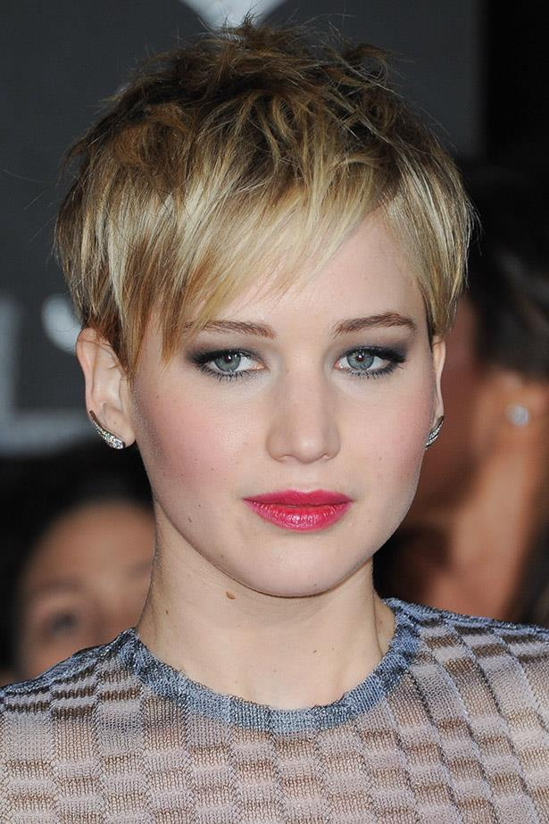 <strong>Jennifer Lawrence</strong> <br><br> The cool girl's pixie crop - keep things messy and textured, a la Jennifer Lawrence, for hair that looks epic everyday without doing a thing.