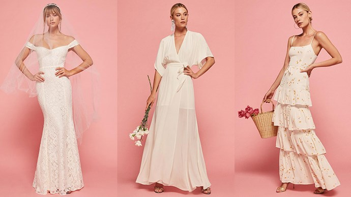 Reformation's latest bridal offering is equal parts pretty and affordable (bingo). Here, 10 dresses you'll love.