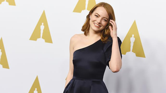 """<p><strong>Emma Stone</strong><p> <a href=""""http://www.hollywoodreporter.com/features/emma-stones-battle-shyness-panic-attacks-phobias-way-oscars-968543"""">Emma credits both</a> acting and therapy, which she started aged 7, with helping her through her 'crippling anxiety'."""
