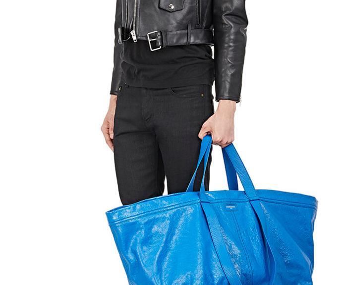 IKEA and Balenciaga Bags.