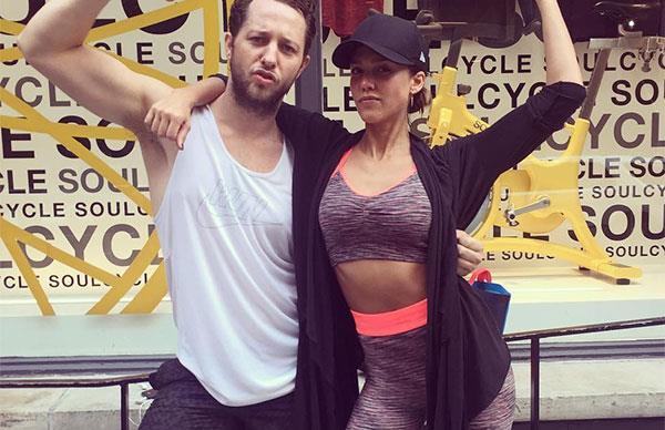 Jessica Alba and Derek Blasberg Exercise