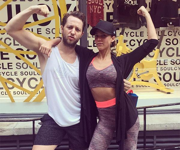 Jessica Alba and Derek Blasberg Exercise