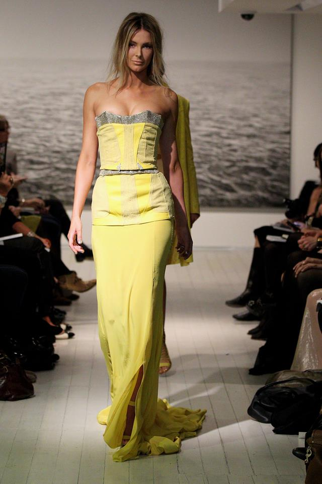 When Jennifer Hawkins hit the Ellery runway in this yellow gown in 2011, it became an instead headline-hit.