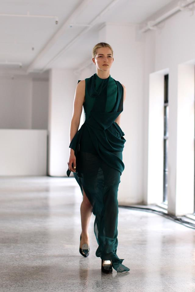 This artfully draped green design from the 2012/13 collection was a favourite amongst fashion editors.