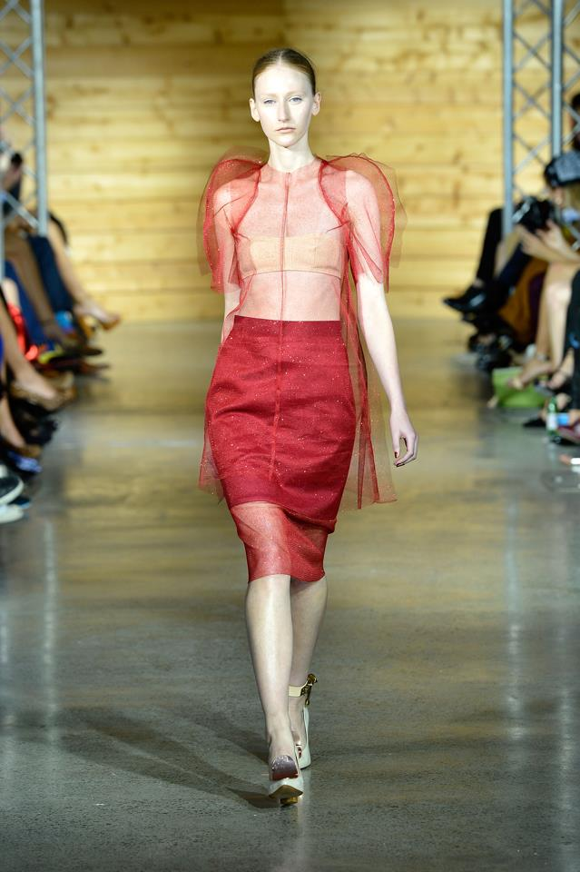 When this puff-shoulder red design came down the runway in 2012, it was love at first sight for many fashion insiders.