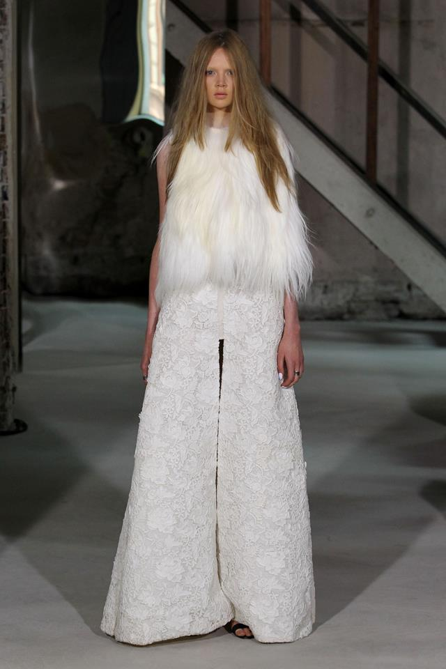The 70s flare silhouette is an Ellery staple, and was heavily referenced in her 2012 collection.