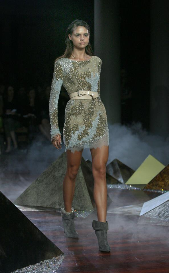 Samantha Harris wore the Ellery dress of the season down the runway in 2010.