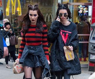 Kendall Jenner Bella Hadid McDonald's