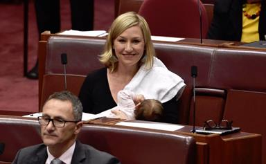 Senator Larissa Waters Casually Moves A Senate Motion While Breastfeeding Her Daughter