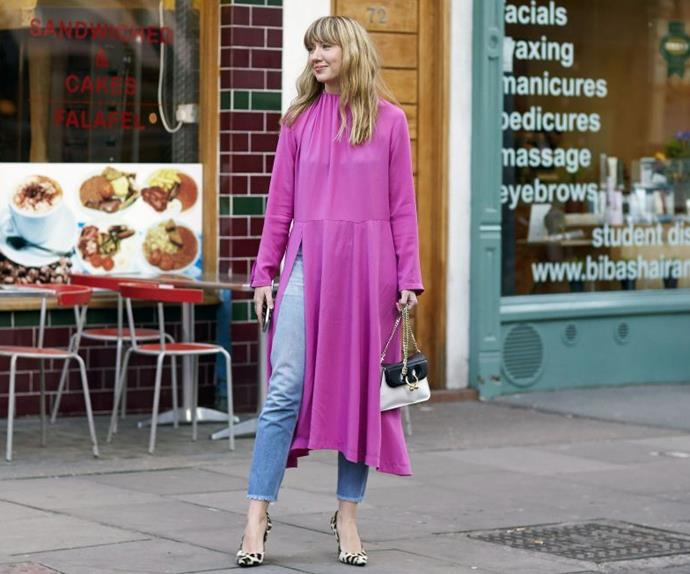 Dresses Over Jeans Fashion Street Style